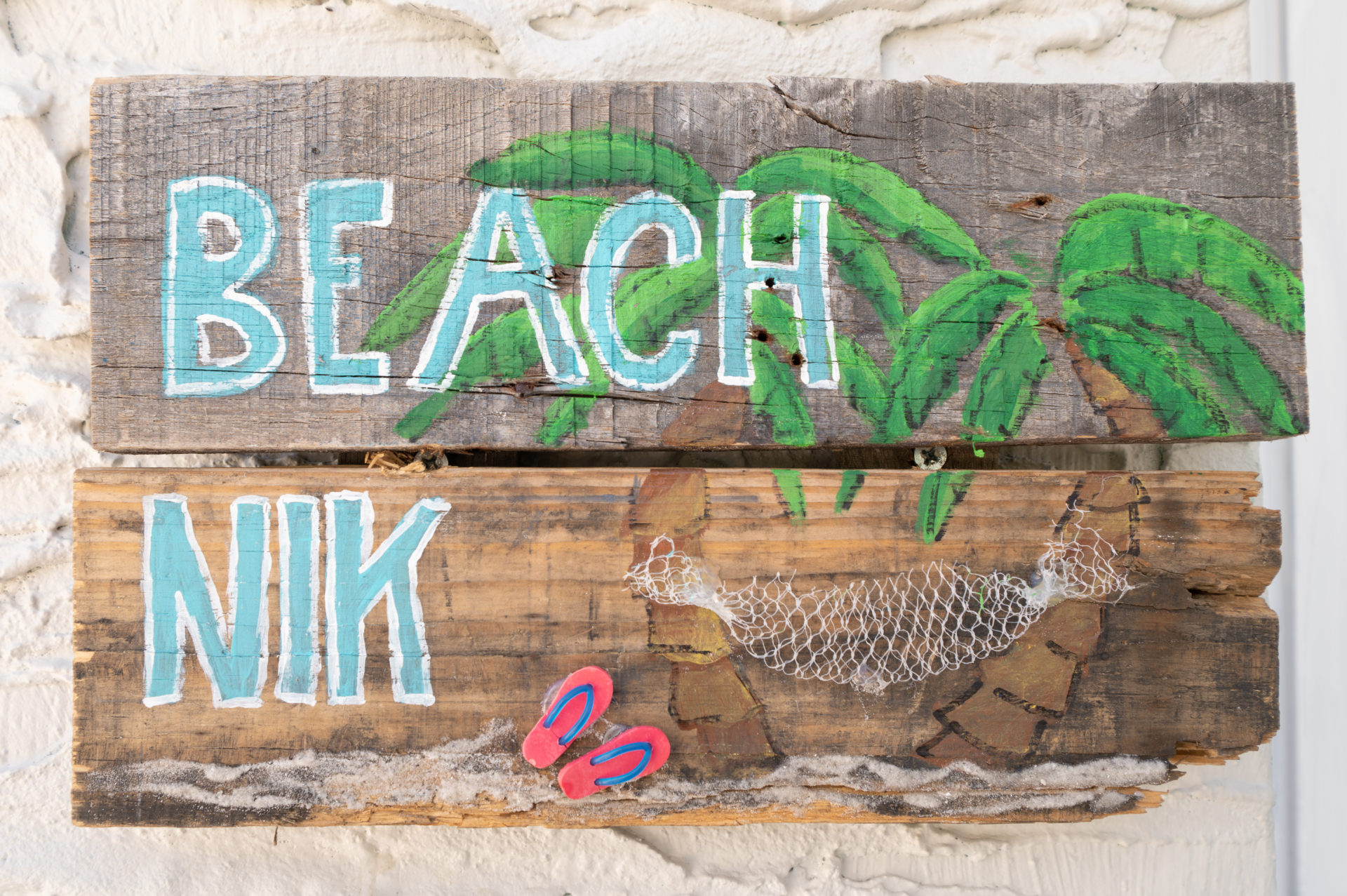 6 - Beach Nik Door Sign